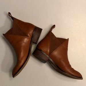 Aldo Chelsea Brown Leather Boots